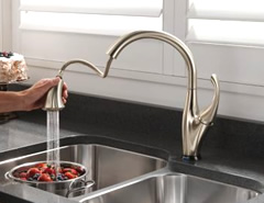 Delta Faucet improves bath safety and reduces the impact of physical challenges in the kitchen.